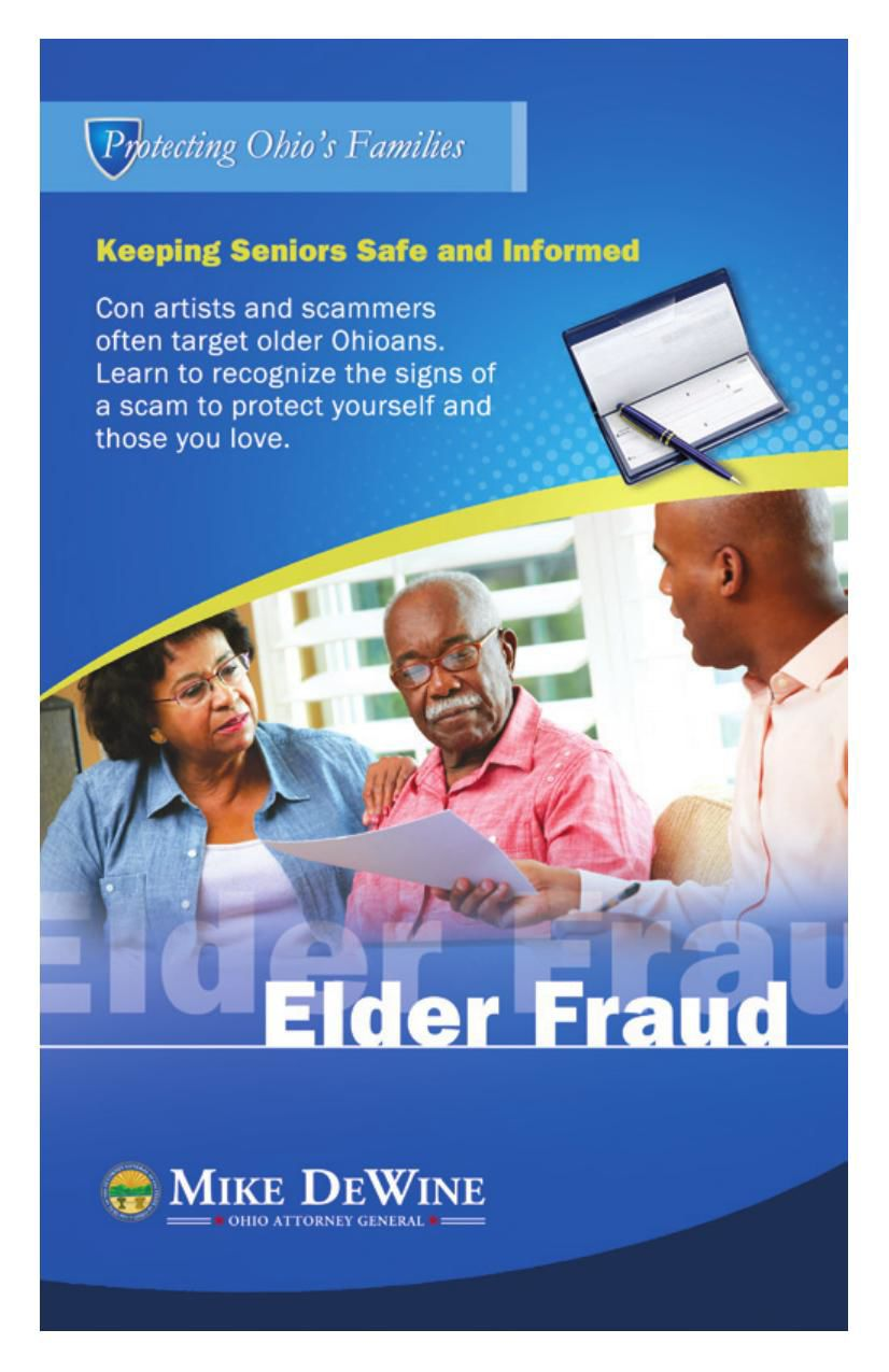 Elder Fraud Brochure
