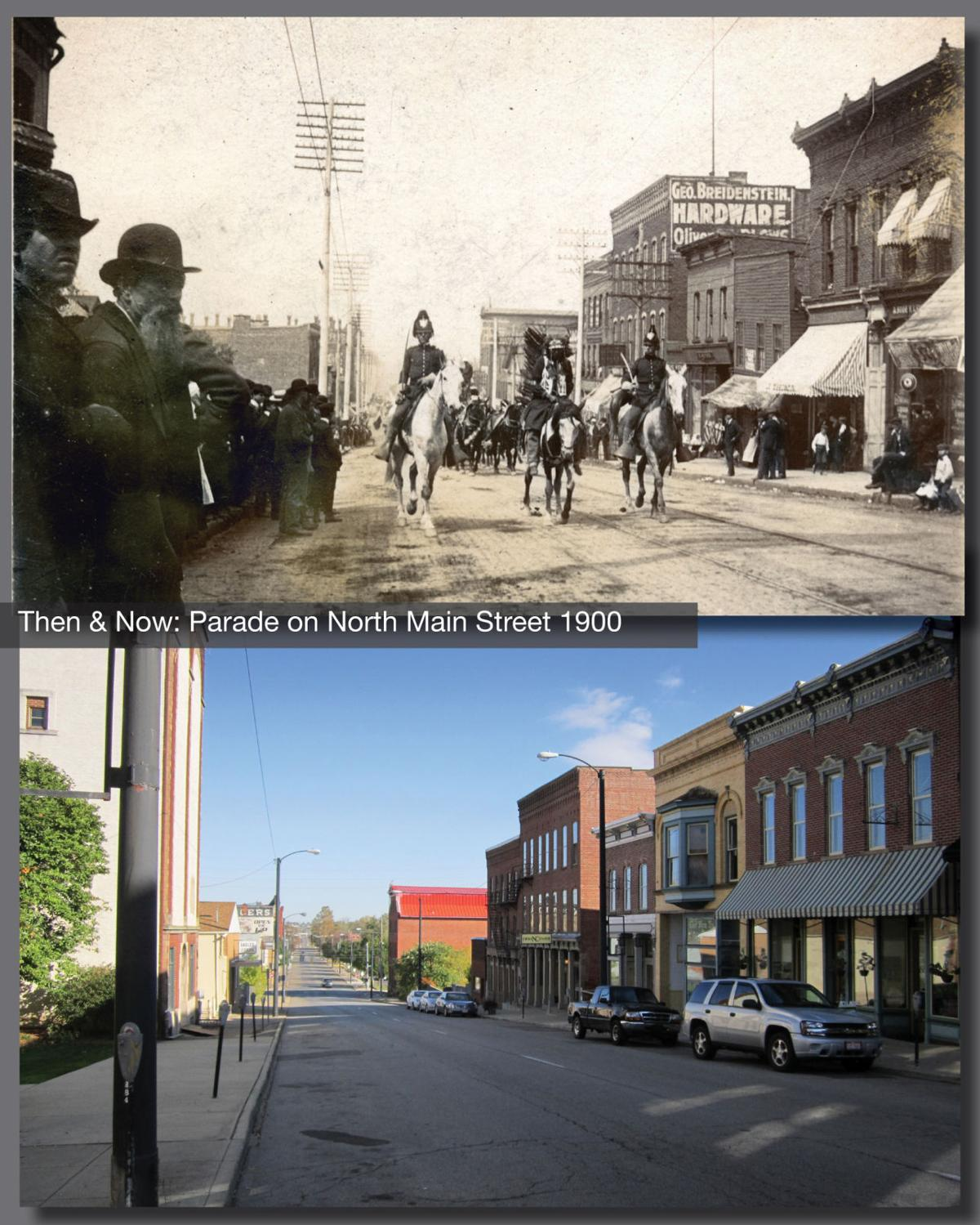 Then & Now: Parade on North Main Street 1900