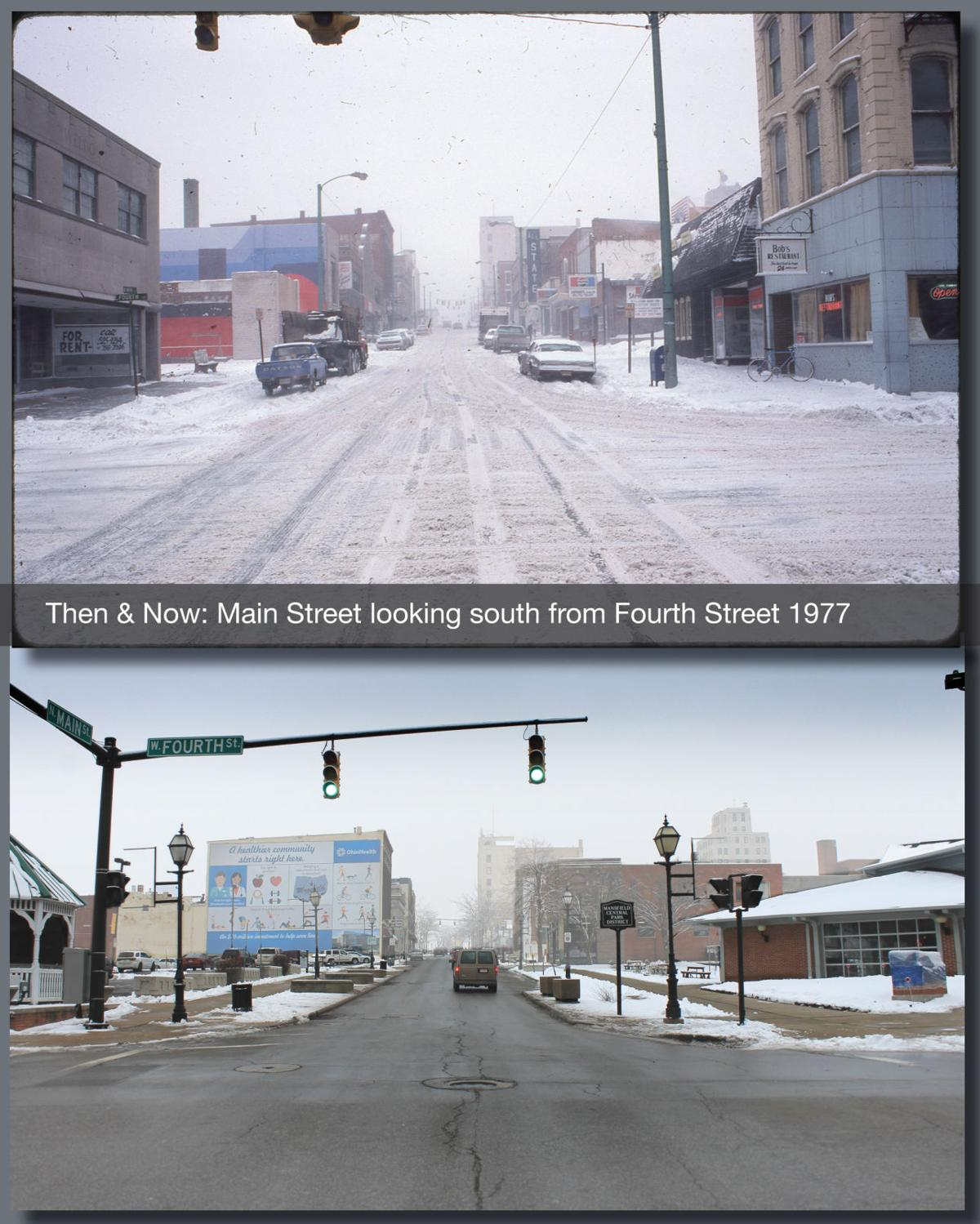 Then & Now: North Main at Fourth St. 1977