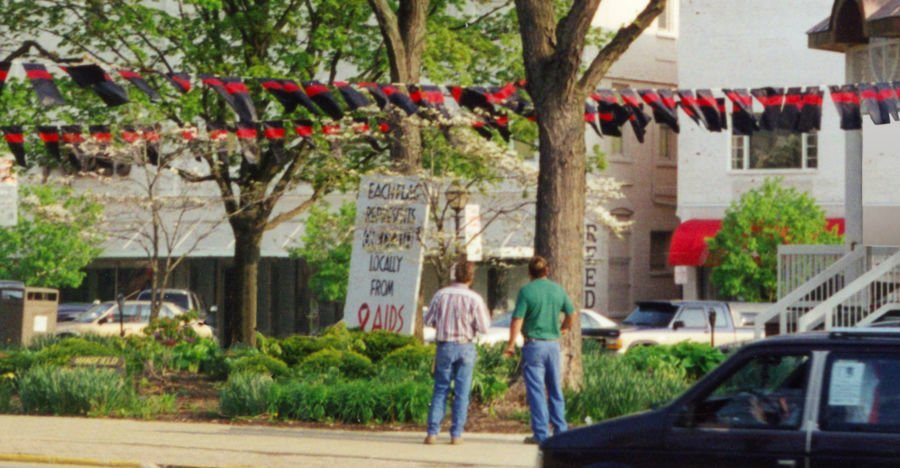 AIDS Memorial in Central Park Mansfield 2000