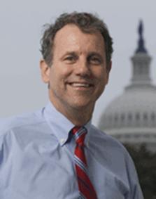 U.S. Sen. Sherrod Brown mug with capitol in background