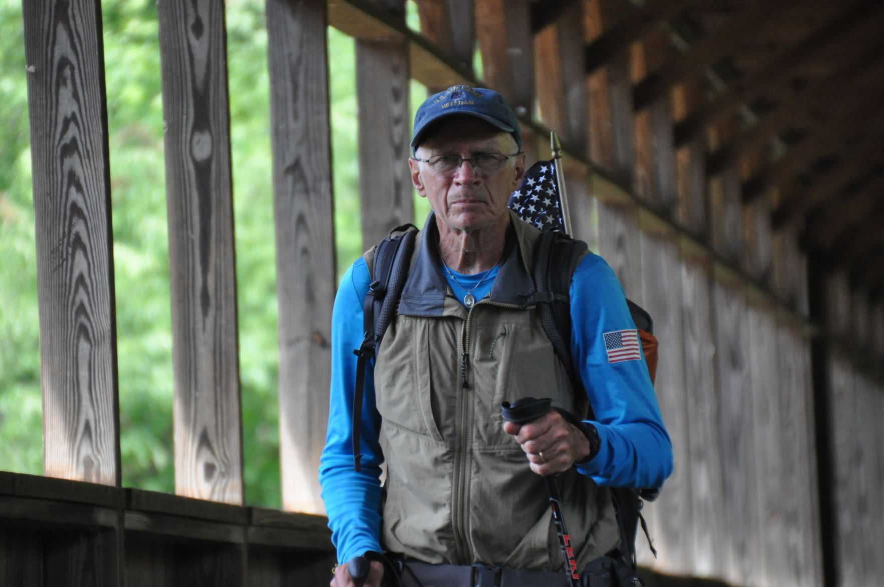Veteran hiking across America passes through Knox County
