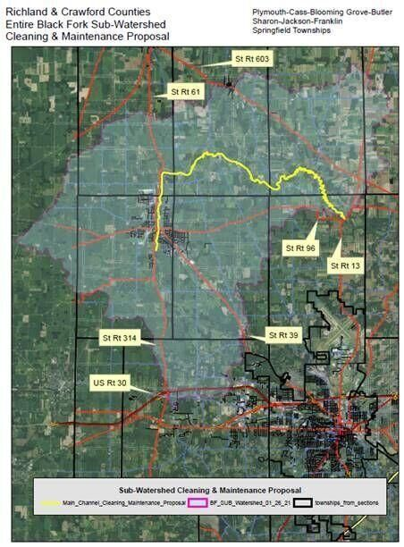 Black Fork Ditch Project map