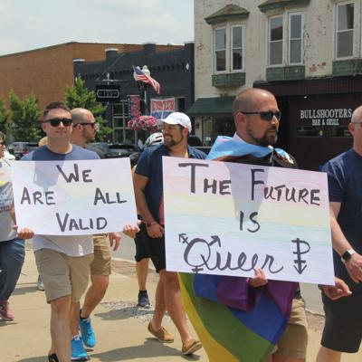 Approximately 70 people attend first pride parade in Ashland