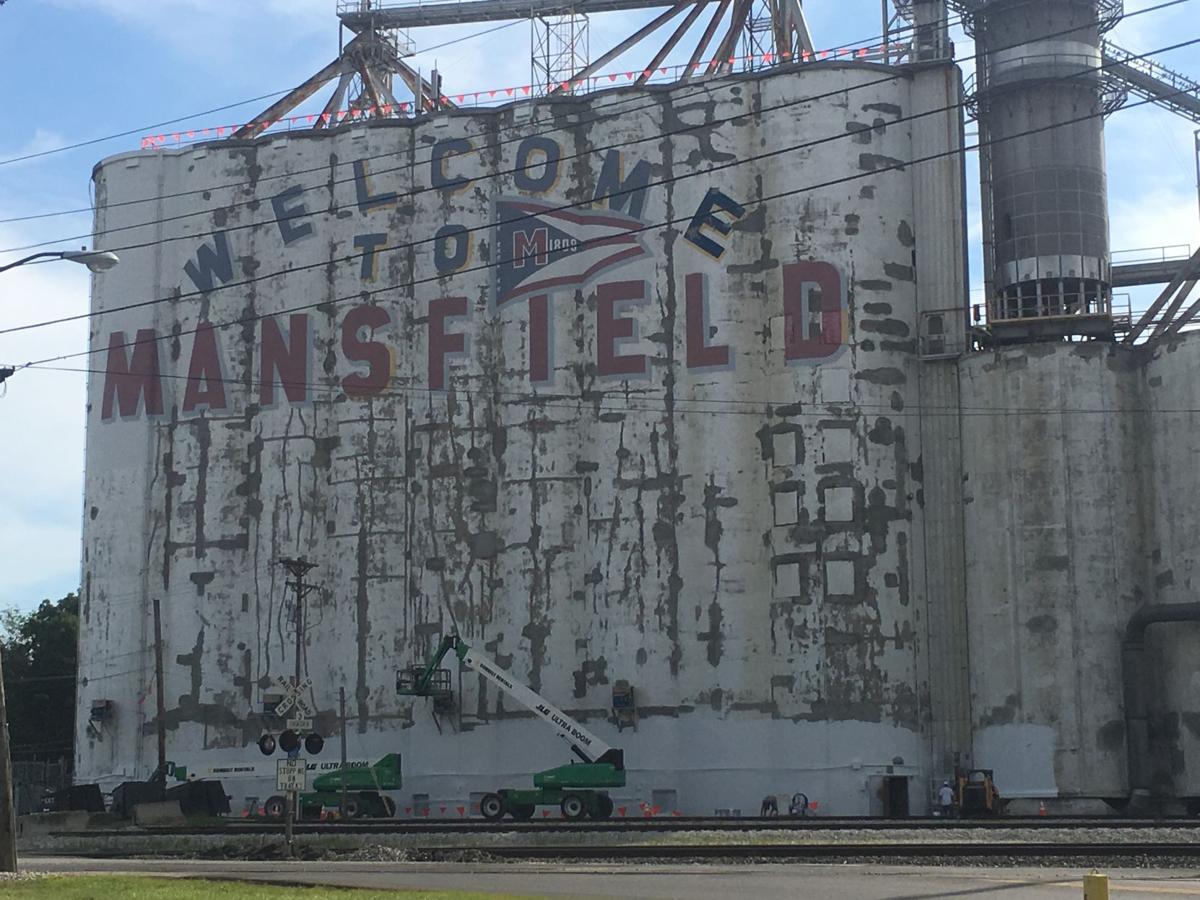 Mansfield silo sign