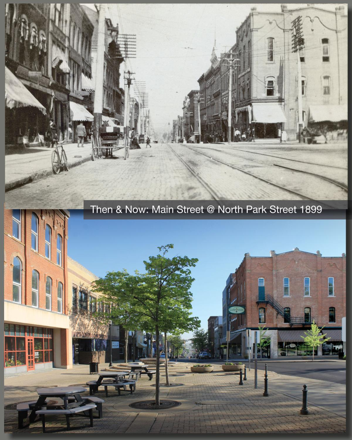 Then & Now: Main Street @ North Park Street