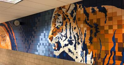 Galion Tigers' painting at Middle School