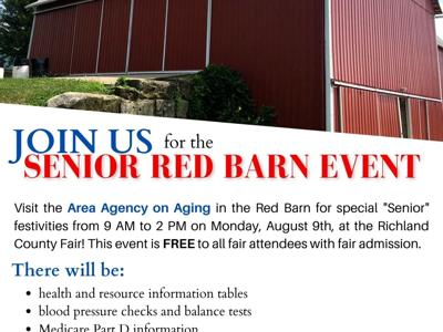 Senior Red Barn returns to Richland County Fairgrounds on Aug. 9
