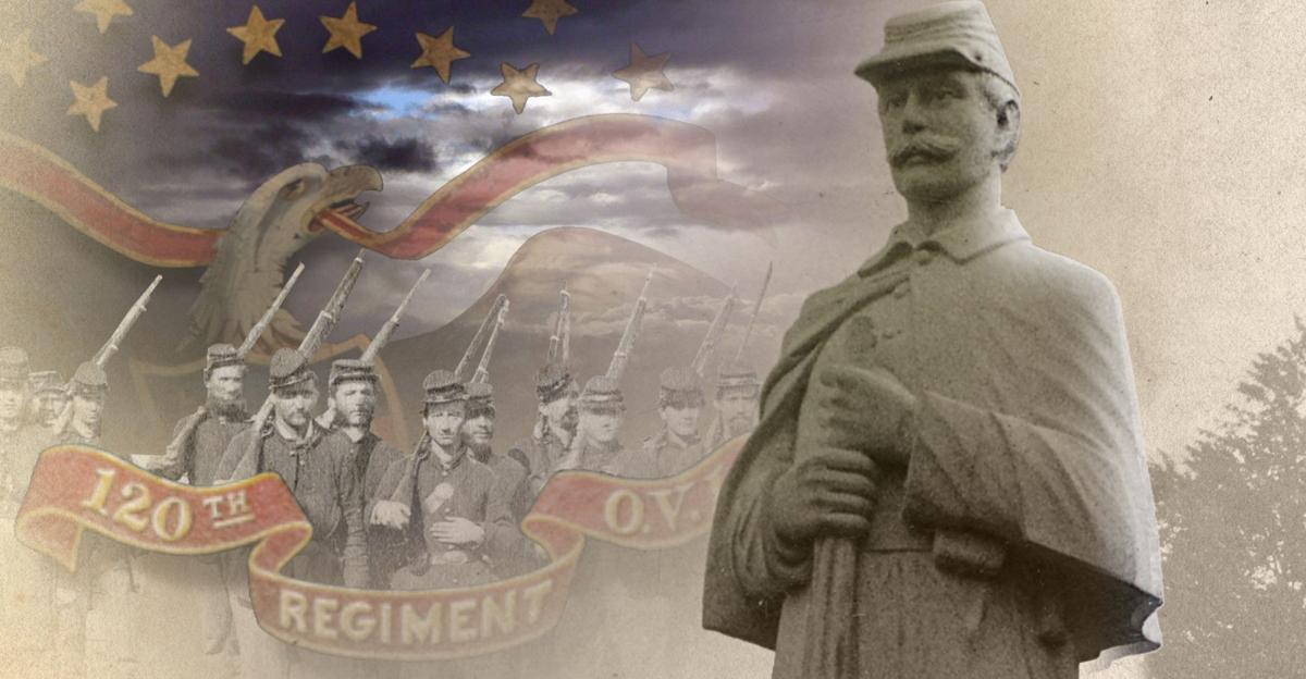 The 120th Regiment Ohio Volunteer Infantry monument