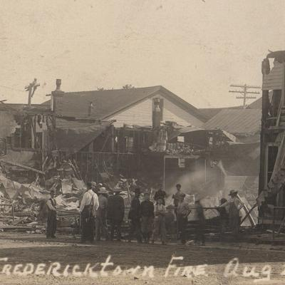 Fredericktown's 1913 fire disaster was captured in postcard photo
