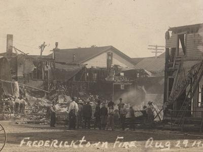 Fredericktown's 1913 fire disaster was captured in postcard photo