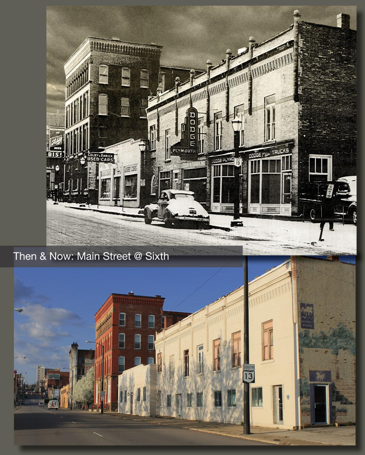 Then & Now: Main Street at Sixth
