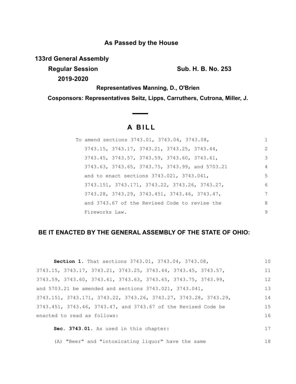 Ohio House Bill 253