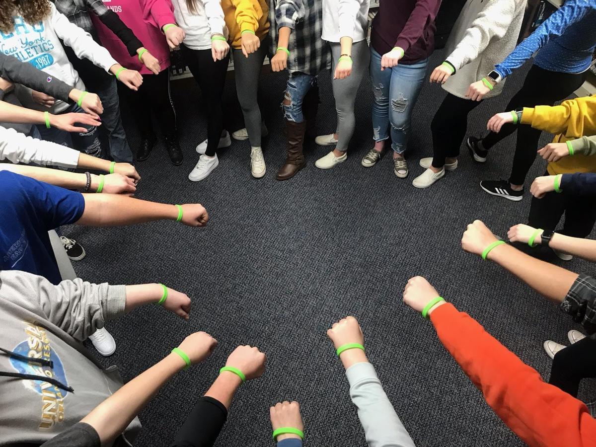 Students suicide wrist bands