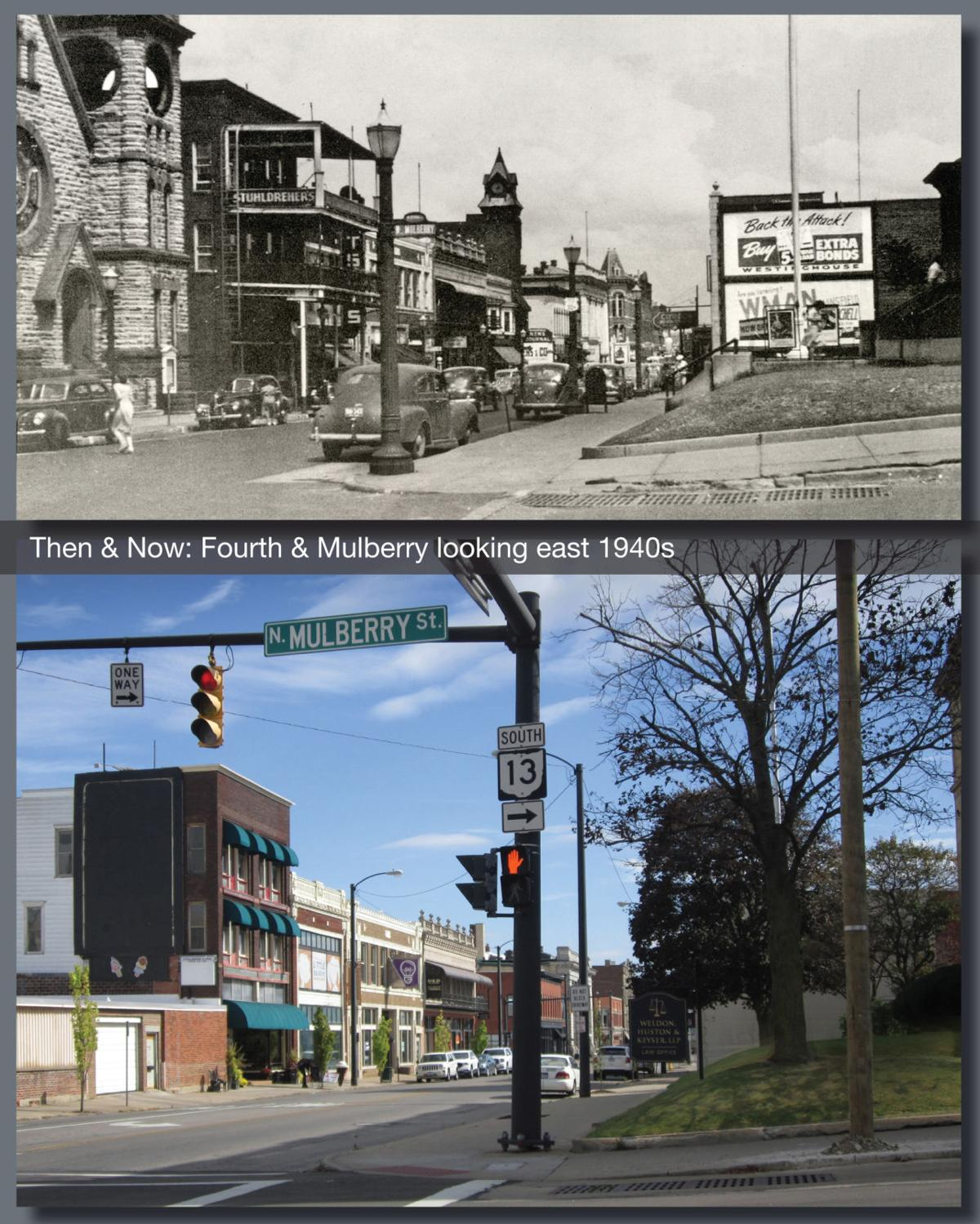 Then & Now: Fourth & Mulberry 1940s