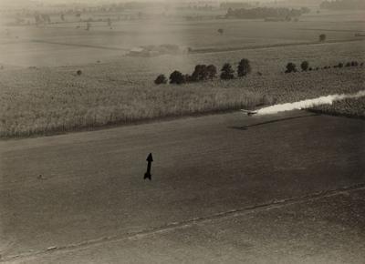aerial crop dusting flight