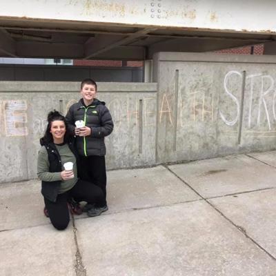 10-year-old Mansfield boy brings community together through chalk art