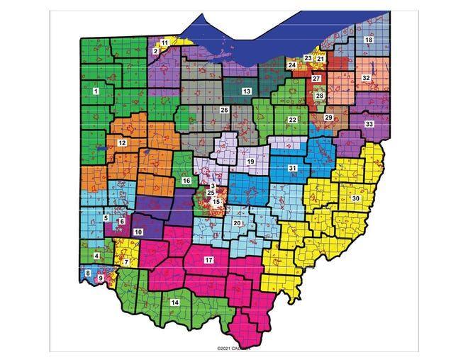 2024 Ohio Senate Districts