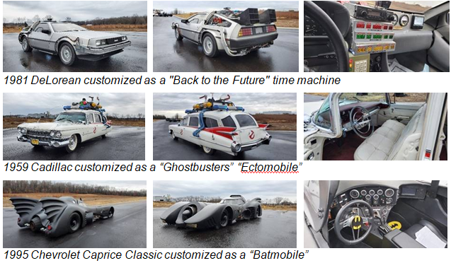 U S Marshals Selling 3 Replica Movie Cars Back To The Future Delorean Ghostbusters Ectomobile Batmobile News Richlandsource Com