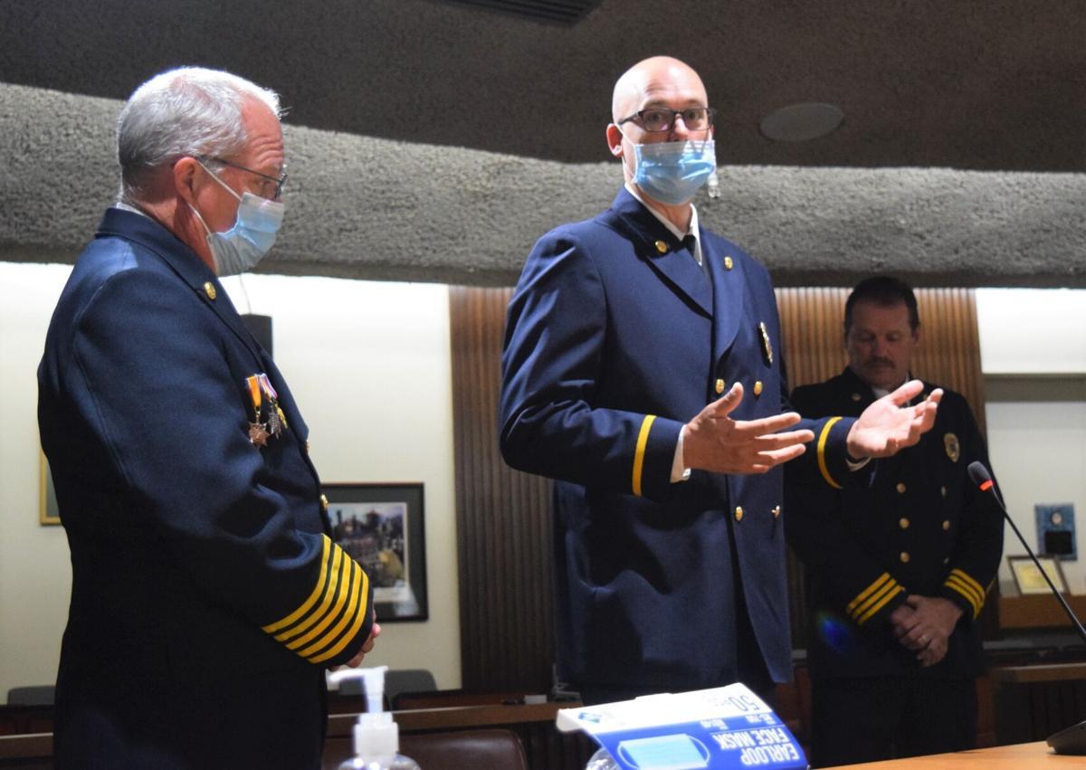 Firefighter honored