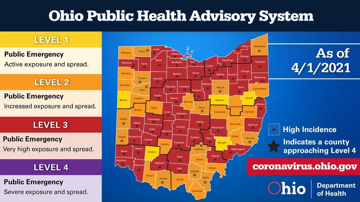 Ohio COVID Map 042121