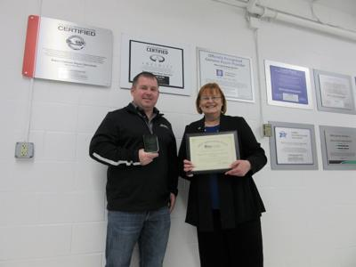 Baker's Collision recognized for environmental-friendly actions over years