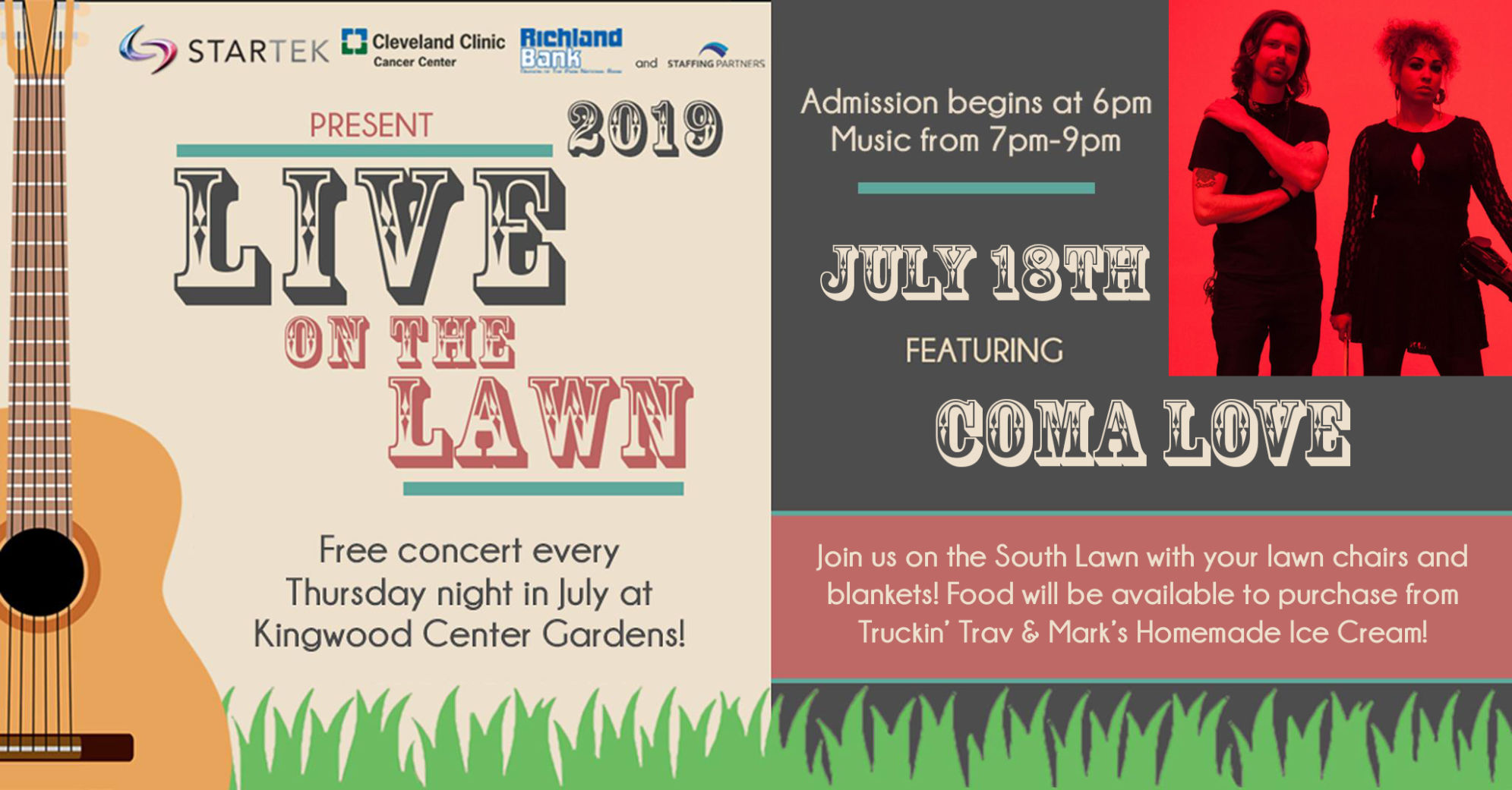 Kingwood's Live on the Lawn concert feat. Coma Love on July 18