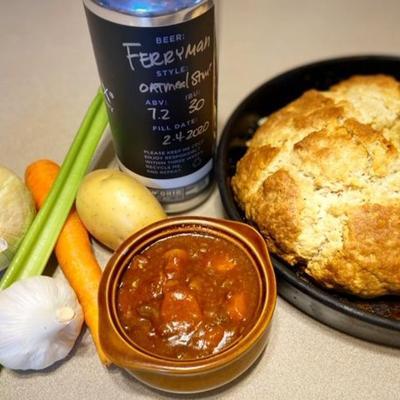 St. Patrick's Day recipe: Irish stew with a kick from Ferryman Oatmeal Stout