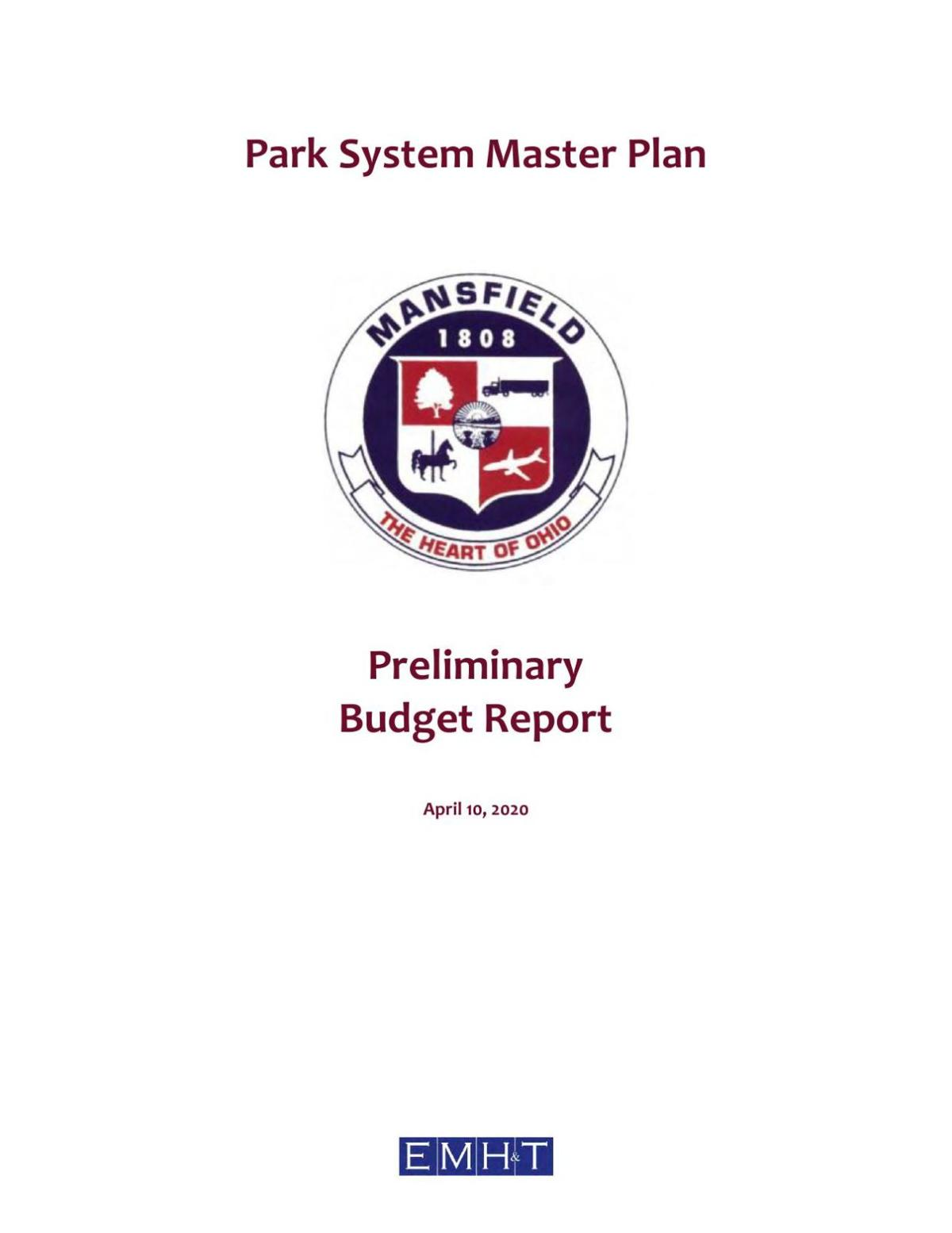 Mansfield City Parks master plan budget proposal draft
