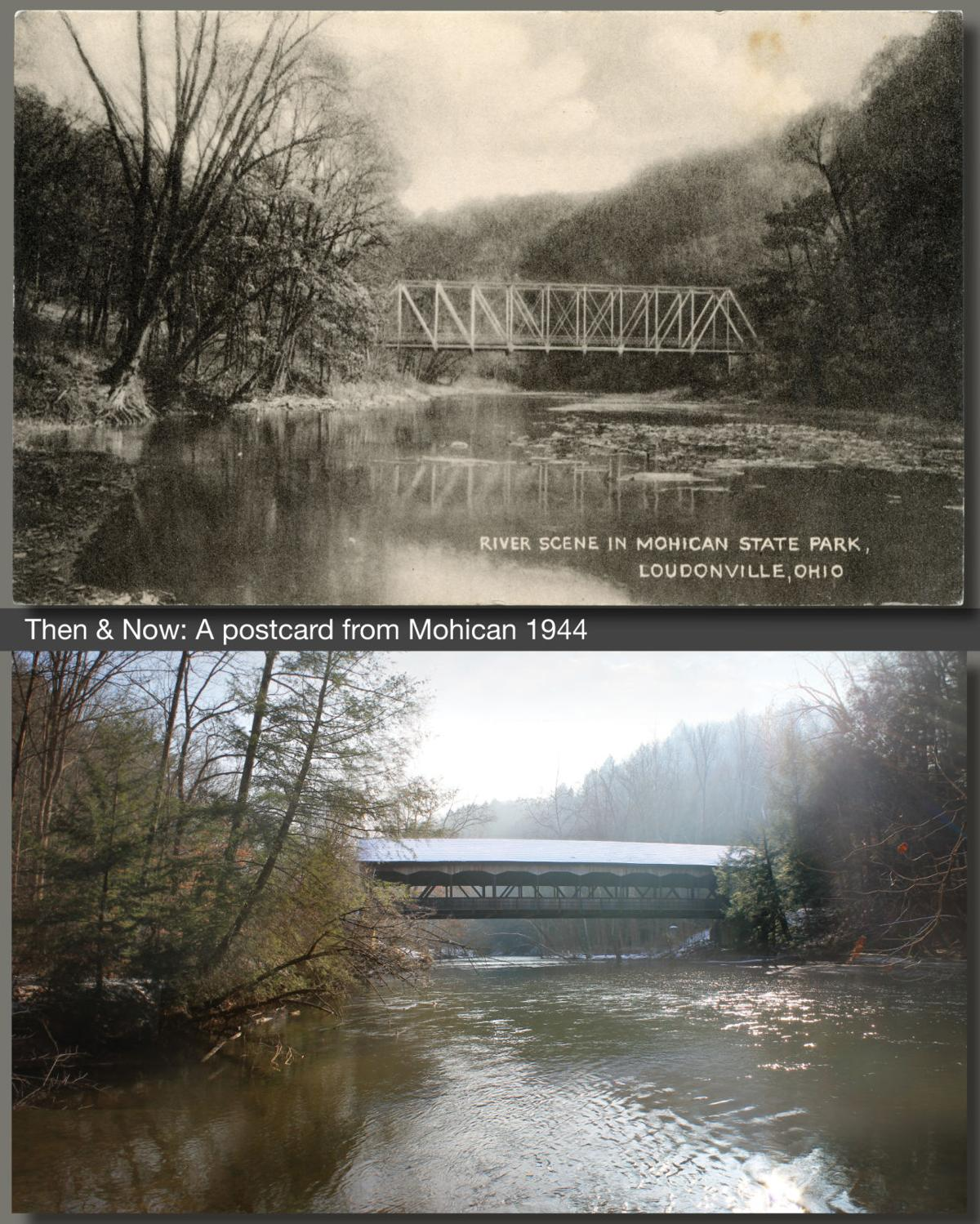 Then & Now: Mohican bridge from a postcard 1944