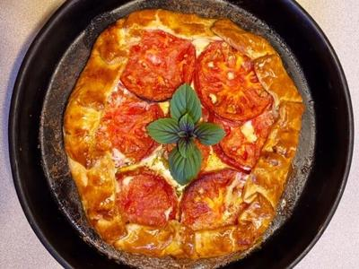 Easy Tomato Galette recipe adds rustic elegance to your meal