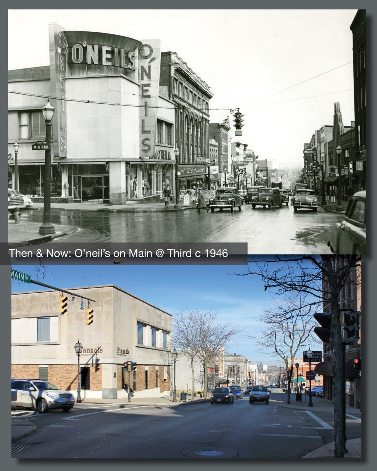 Then & Now: O'neil's Main & Third