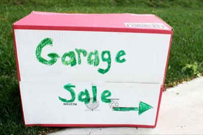Garage sales homemade sign