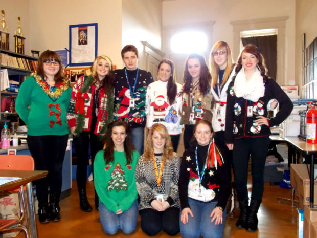Pioneer Performing Arts Students Participate In Ugly Christmas