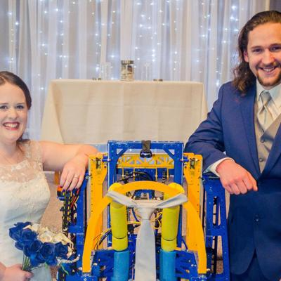 Robot serves as ring bearer for local wedding