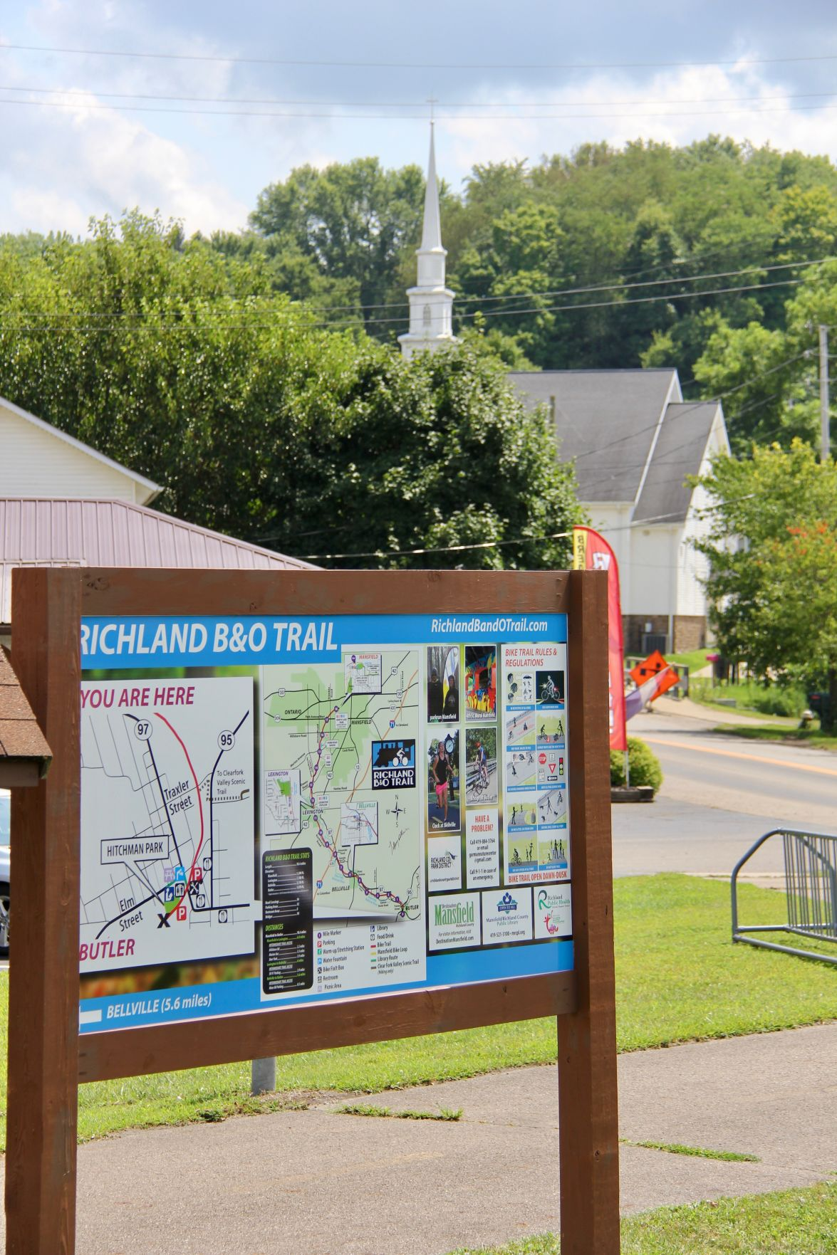 New bike trail sign in Butler