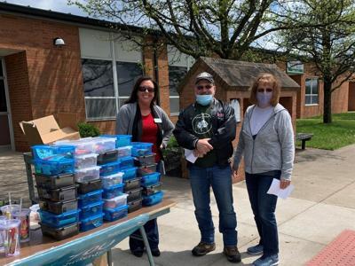 Modern Woodmen members recognize Crestview educators with drive-thru event