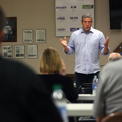 Ohio Rep. Tim Ryan makes 'Workers First' campaign stop in Shelby
