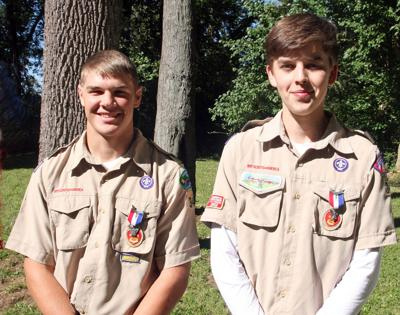 Fredericktown Troop 342 introduces 2 newest Eagle Scouts