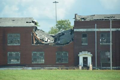 Open Source: What's the story with the collapsed roof on the old Mansfield prison building?