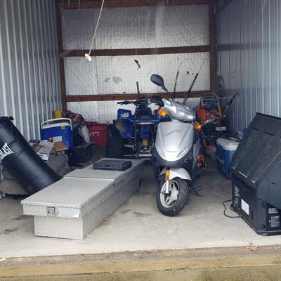 Treadmill, air conditioner, ATV available at Lock It Up Storage auction