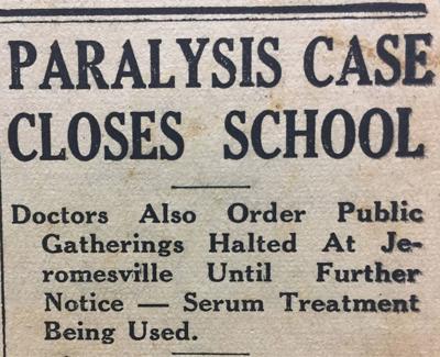Jeromesville polio case