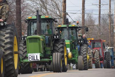 Jeromesville recognizes beloved resident with tractor procession as alternative to traditional funeral
