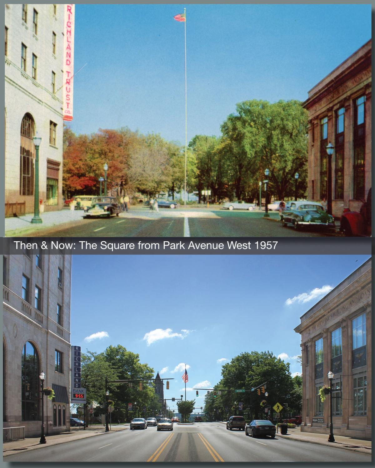 Then & Now: The Square from Park Avenue West 1957