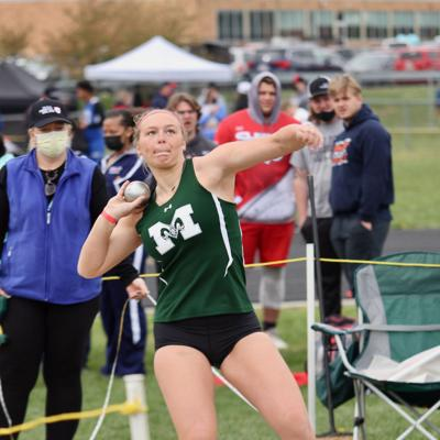 Madison's Baker headed to state after breaking school record in shot put