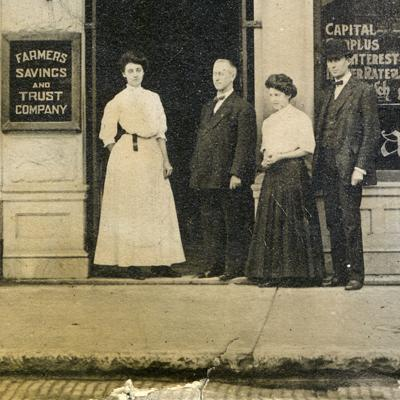 Then & Now: Farmers Bank on the Square 1890s