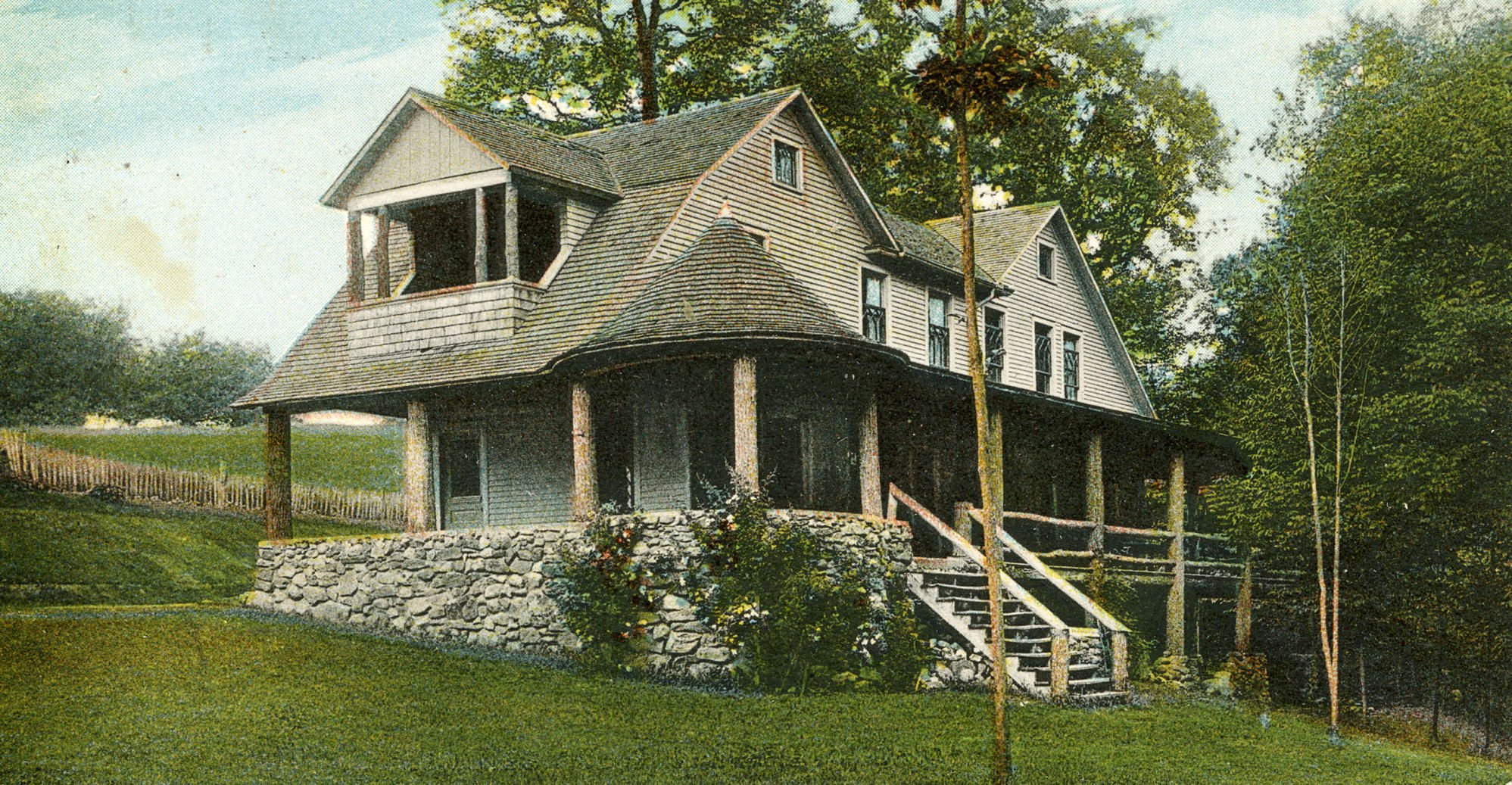 Then & Now: The lodge at Fleming Falls resort 1917