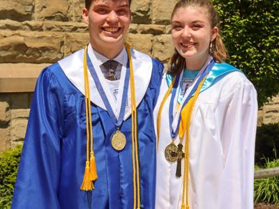 Twins earn top honors as Valedictorian and Salutatorian at St. Peter's
