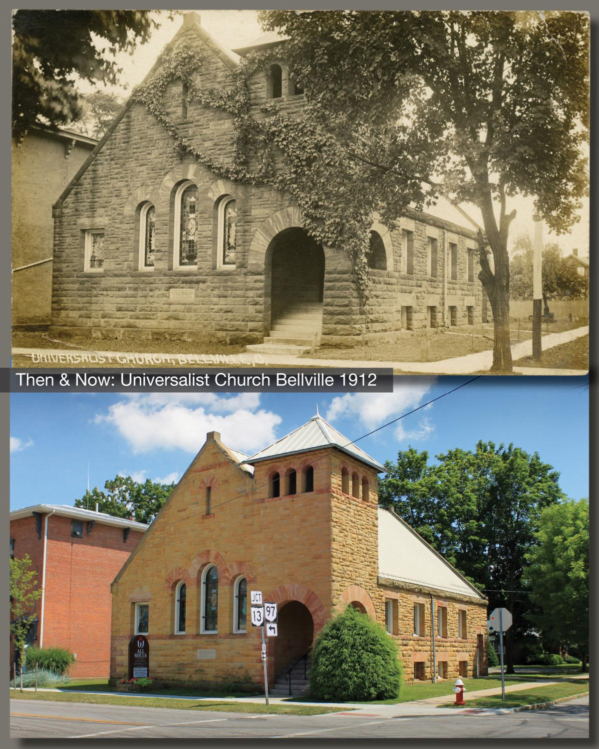 Then & Now: Universalist Church Bellville 1912