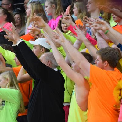 OHSAA leader joins Lexington's 'Purple Haze' to promote sportsmanship